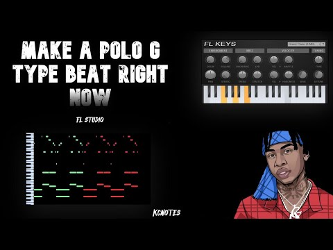 How To Make A Polo G Piano Type Beats 2021 | Fl Studio Tutorial | Kcnotes Cookup