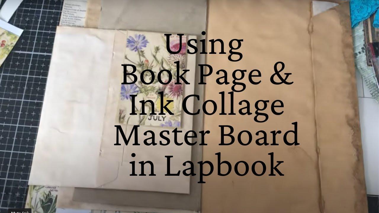Botanical Book Page Collage Master Board - Lapbook Folio #1