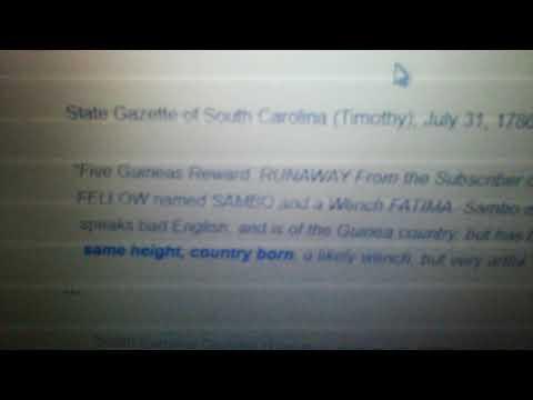 South Carolina slave from Kissi tribe of Liberia