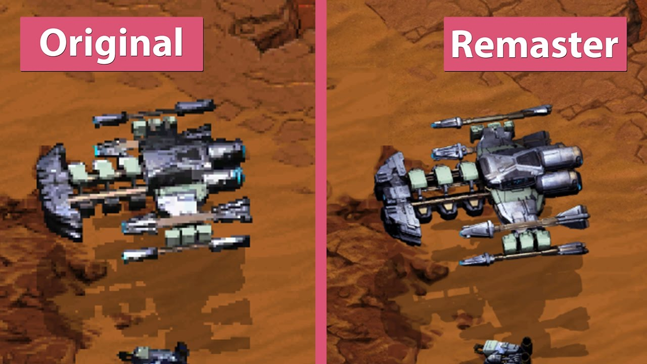 StarCraft – Original vs  Remastered Official Shots Graphics Comparison