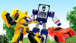 Игры для мальчиков - Бамблби и Десептиконы! – Роботы Трансформеры.