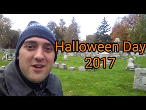 Mount Hope Cemetery on Halloween day!