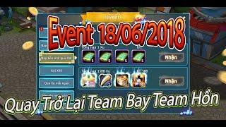 Pokemon:Mình Đã Trở Lại,Team Đã Quay Về|Event Và Thời Tiết 18/06/2018