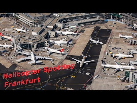 ** FRAPORT from ABOVE ** Helispotting Frankfurt Airport - He