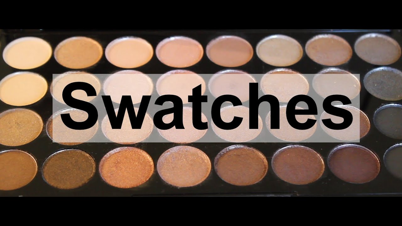 Makeup Revolution Beyond Flawless palette swatches
