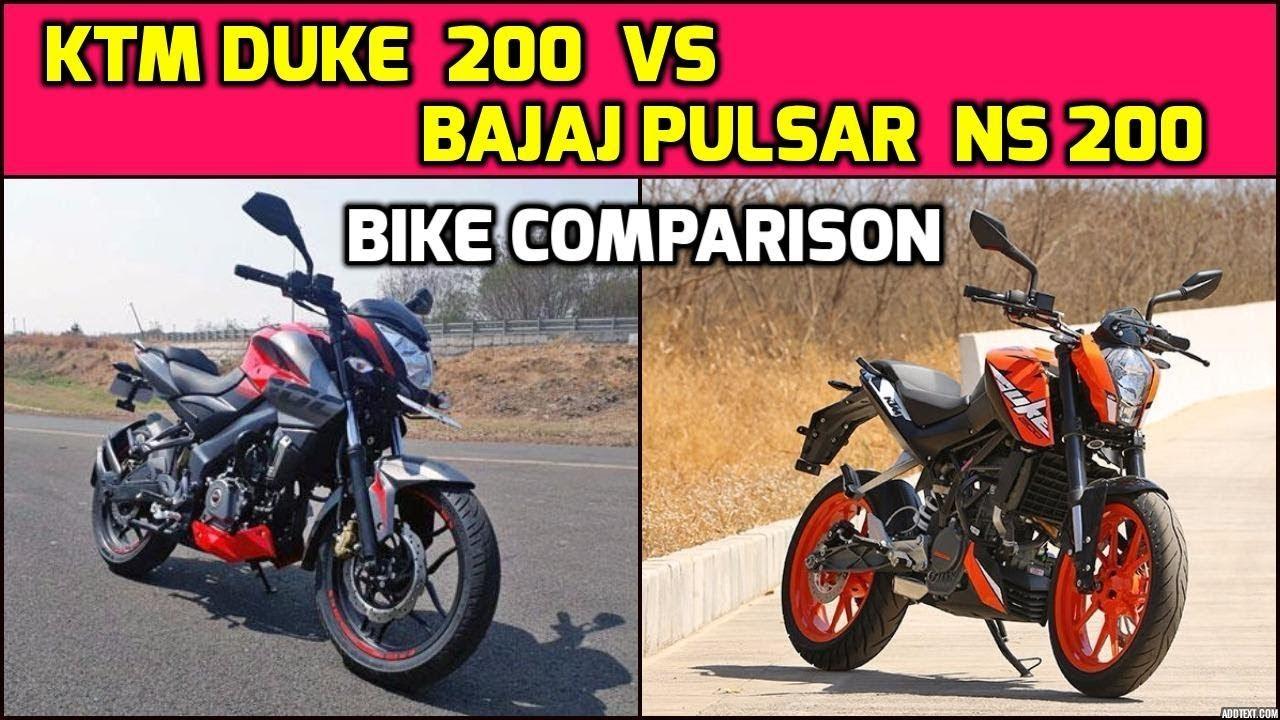 Bajaj Pulsar RS 200 VS KTM RC 200 video comparison
