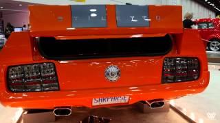Orange Ford Mustang Stiletto