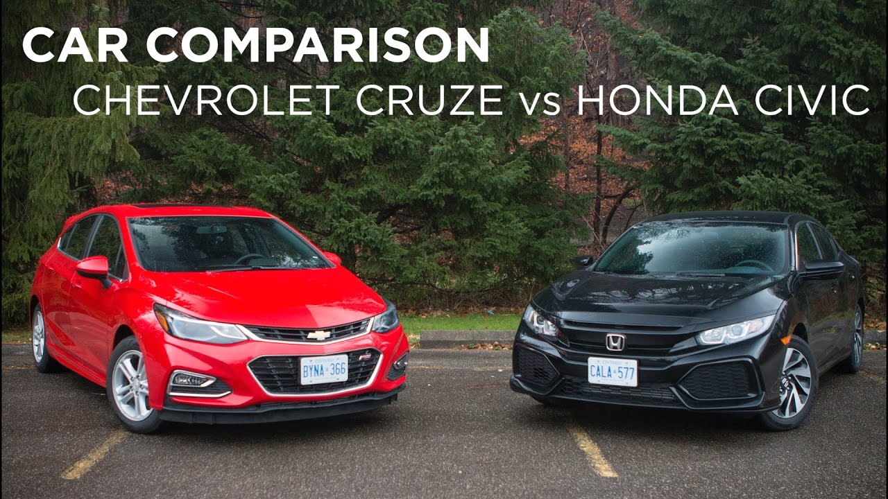 Car Comparison | Chevrolet Cruze vs Honda Civic | Driving ...