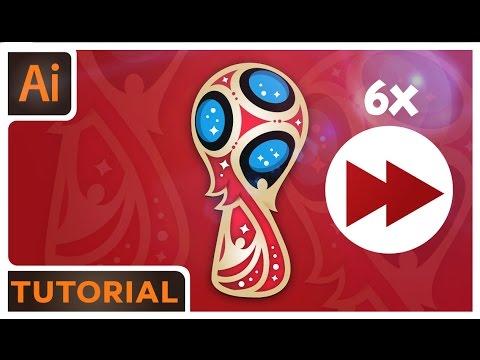 World Cup Logo Tutorial Time- Lapse - Adobe Illustrator