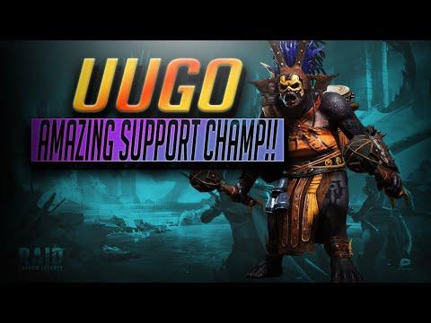 Uugo Guide -AMAZING SUPPORT CHAMP!!+GEM WINNERS   RAID Shadow Legends