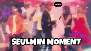 [SEULMIN] BTS JIMIN AND RED VELVET SEULGI MOMENT @ MUSIC BANK IN SINGAPORE