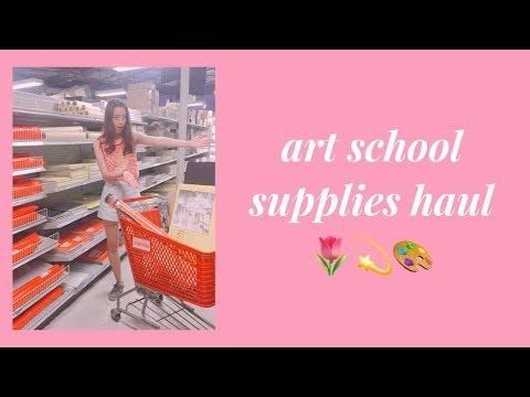 art school supplies haul | interior design student