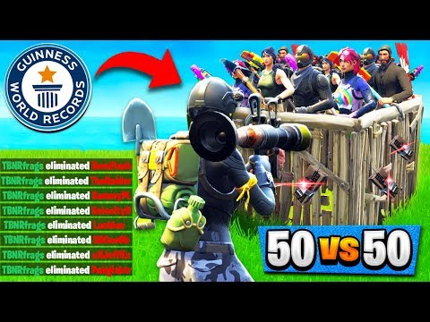 WORLD RECORD KILLS in 50v50 V2! (21 Solo Kills) Fortnite: Battle Royale