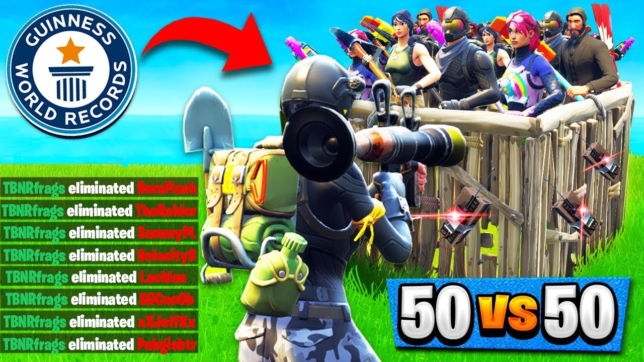 World Record Kills In 50v50 V2 21 Solo Kills Fortnite Battle