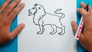Como dibujar un leon paso a paso 4   How to draw a lion 4