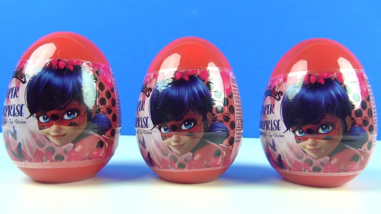 Mucize Uğur Böceği ile Kara Kedi 3 sürpriz yumurta oyuncakları Ladybug Miraculous Super Surprise