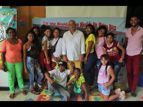 Germán Viana, candidato a la Alcaldía de Cartagena Un Metro Diez, a la altura de la niñez.