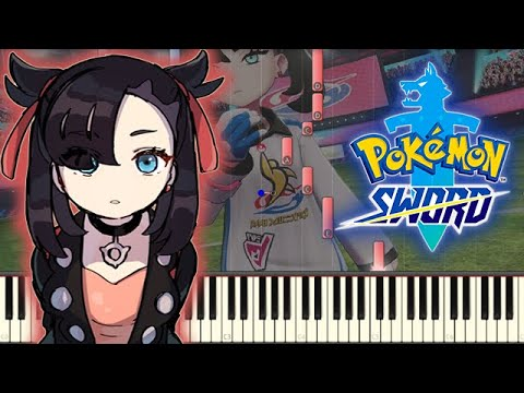 🎵 Marnie Battle Music - Pokemon Sword & Shield [Piano Tutorial]