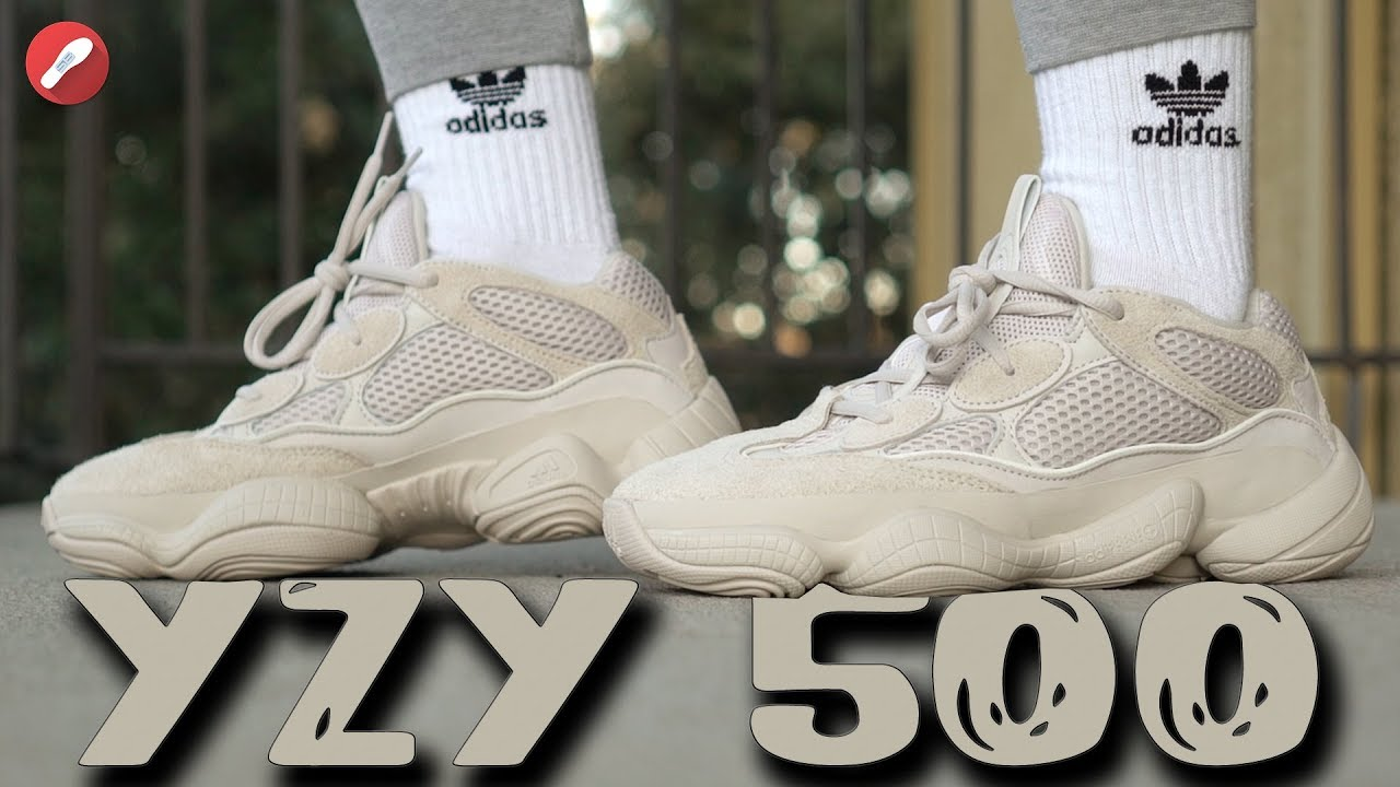 newest e6ce2 336c5 Adidas Desert Rat Yeezy 500 Blush First Look + On Feet!!