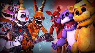 ultimate fnaf fight animation movie five nights at freddy s vs animation