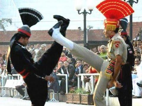 Beating Retreat ceremony at Wagah border |...