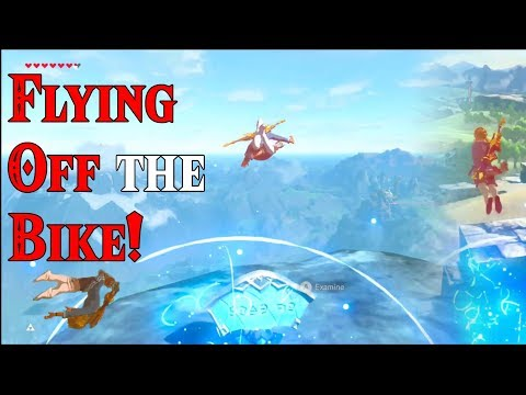 FLYING OFF the Bike! I Believe I can Fly in Zelda Breath of the Wild DLC