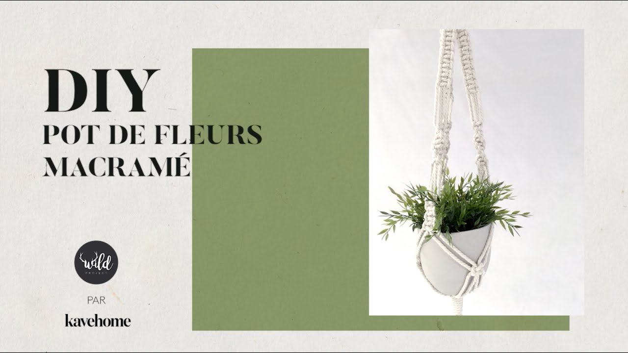 Diy Pot De Fleurs Macrame Youtube