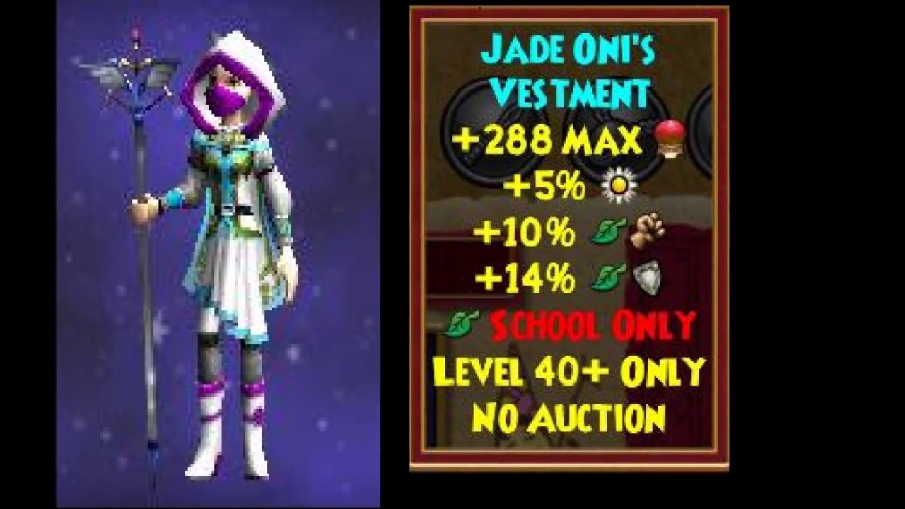 Wizard101 Jade Oni Drops by Vanessa Stormriver