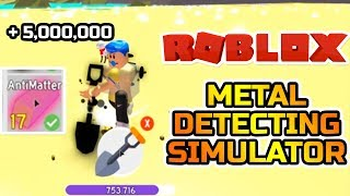 ROBLOX METAL DETECTING SIMULATOR / NEW BEACH UPDATE!