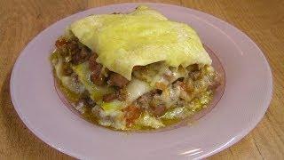 Лазанья - видео рецепт(Видео рецепт приготовления самой настоящей лазаньи. Очень вкусно и красиво. Обязательно нужно приготовить!..., 2010-10-19T06:29:11.000Z)