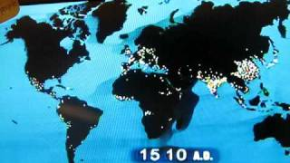 World population map AD - 2030