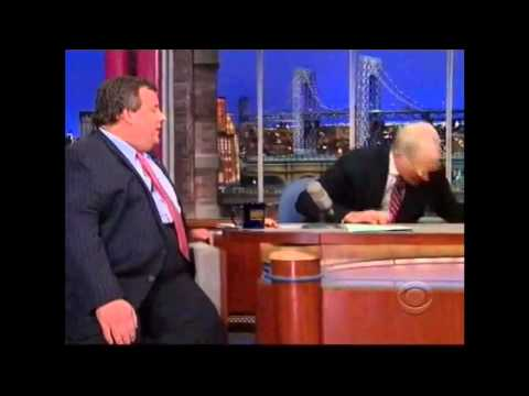 New Jersey Gov. Chris Christie on The Late Show with David L