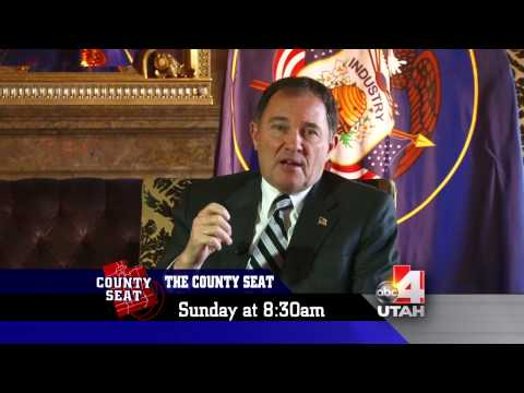 Governor Herbert introducing the County Seat