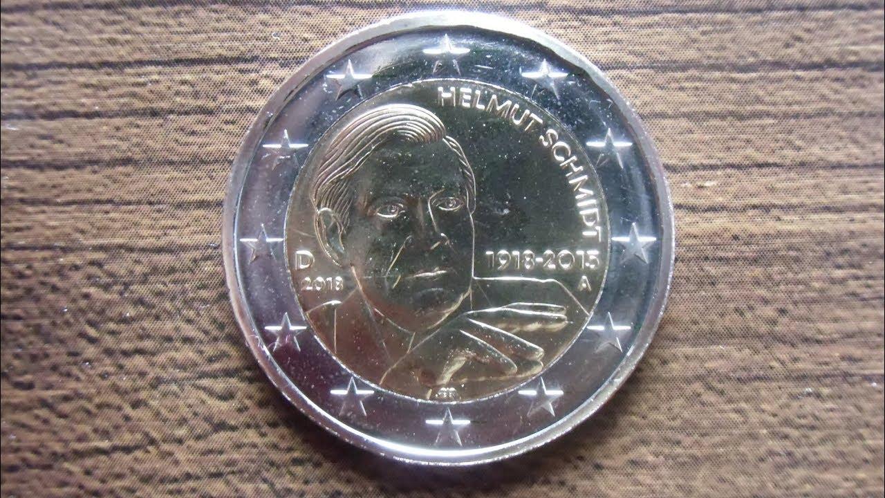 2 Euro Münze 2018 100 Geburtstag Helmut Schmidt Youtube