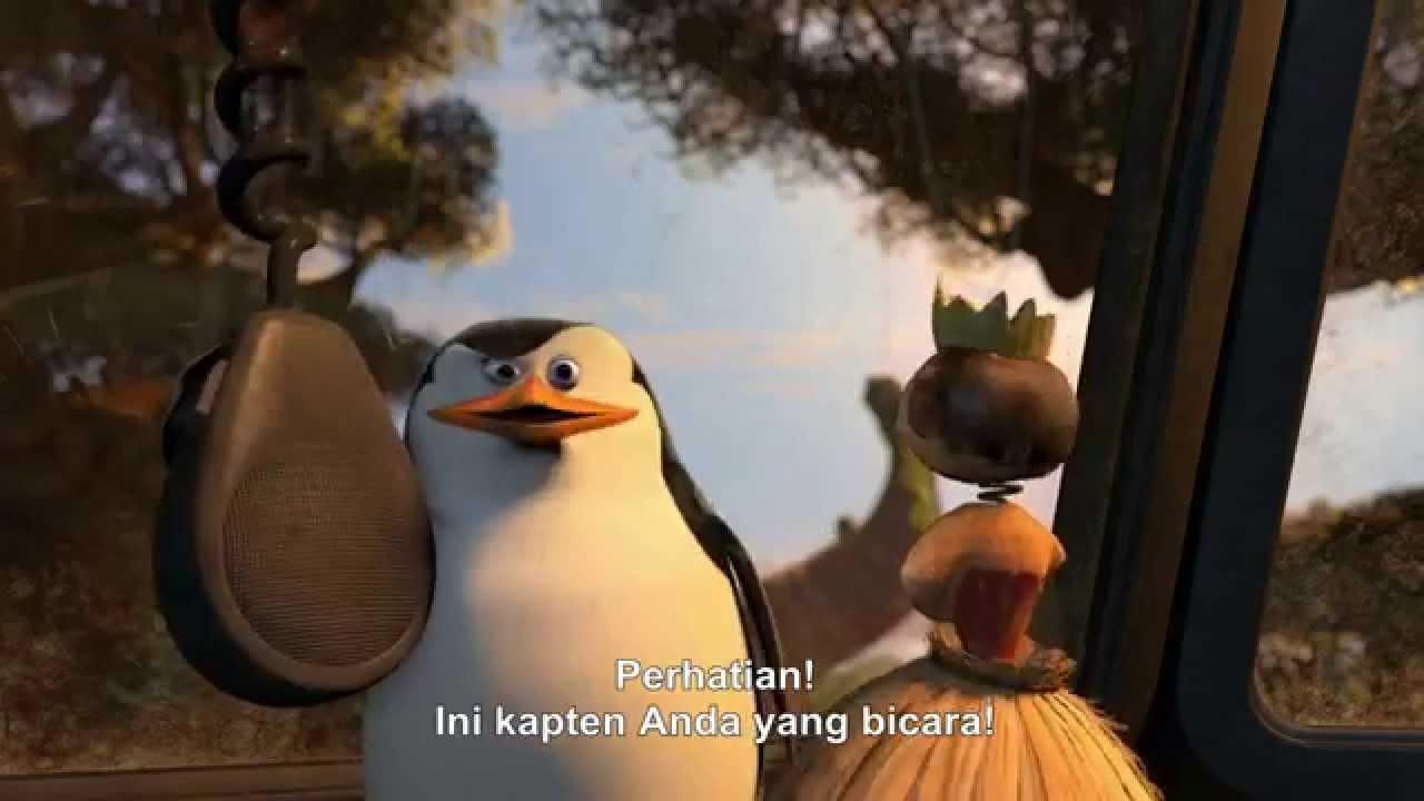 Penguins Of Madagascar 2014 Trailer Subtitle Indonesia Youtube