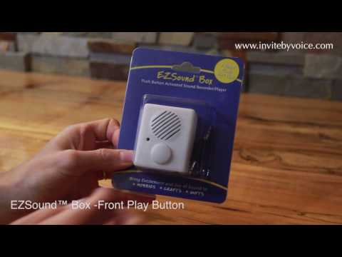 EZSound Box - Front Play Button for Personal Messages, Favorite Tunes, Stuffed Toys, Hobbies