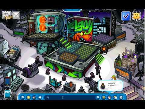 Club Penguin : Music Jam Splatter Cap July 2012