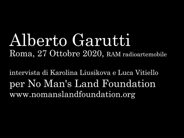 Alberto Garutti for No Man's Land Foundation 2020