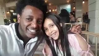 Esubalew Yitayew And My Daughter In Addis
