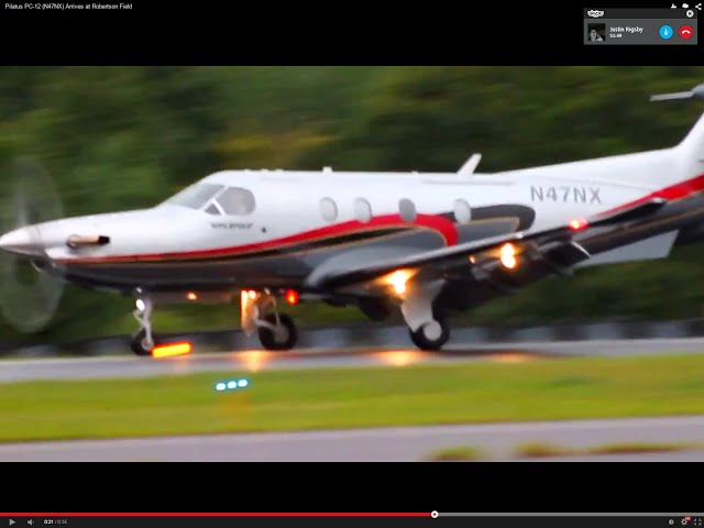 Pilatus PC-12 (N47NX) Arrives at Robertson Field