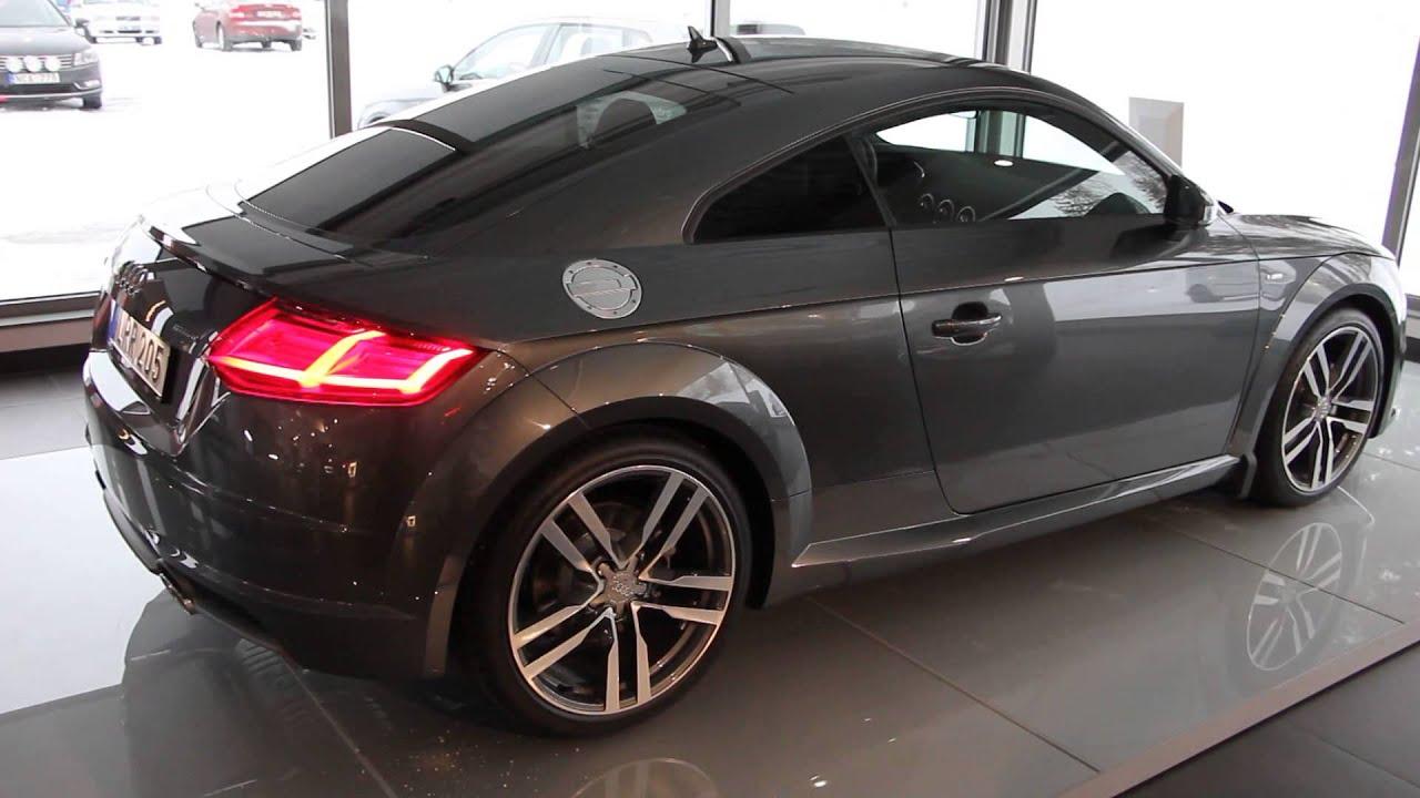 2015 Audi TT Coup Sline 230hp  Daytona grey walkaround  YouTube