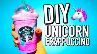 DIY Starbucks Unicorn Frappuccino (that doesn