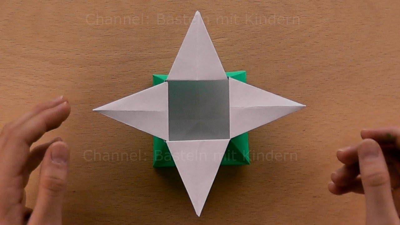 origami stern schachtel basteln mit papier geschenkverpackung weihnachten falten origami box. Black Bedroom Furniture Sets. Home Design Ideas