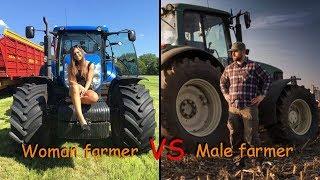 Woman farmer vs Male farmer | Farming Simulator 2019 / Gameplay Comparison
