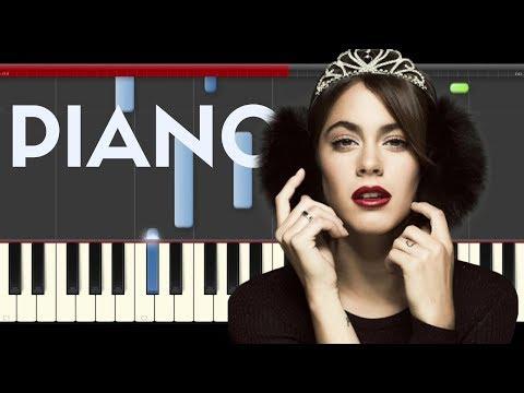 TINI Nacho Te Quiero Mas Piano Midi tutorial Sheet app Cover Karaoke
