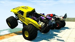 MONSTER TRUCK MADNESS 2 - BeamNG Drive High Speed Crash Compilation 96