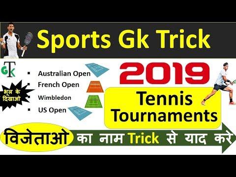 Sports GK Trick : 2019 Grand Slam Tennis Tournaments | Most Important Current Affairs 2019
