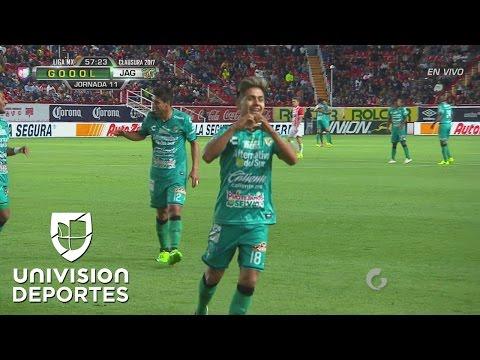 Dieter Villalpando hace el golazo de la jornada y pone 2-1 a Chiapas sobre Necaxa