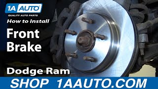 how to install repair replace front brakes on dodge ram 1500 02 08 1aauto com