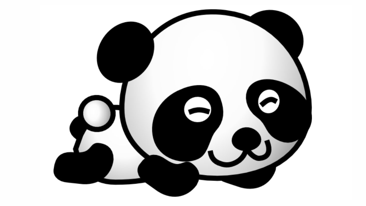 Uncategorized Pandas Drawings how to draw cute panda very easy youtube easy